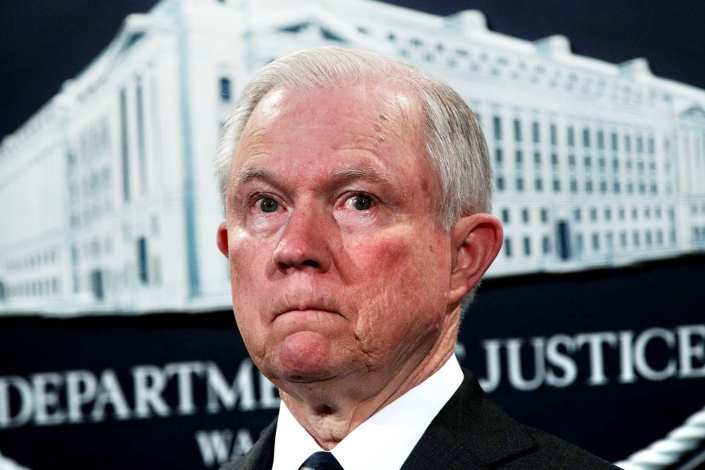 Jefferson Beauregard Sessions is pissssssed…