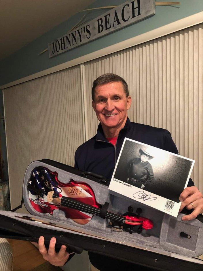 Charlie Daniels sends a special gift to Gen Flynn