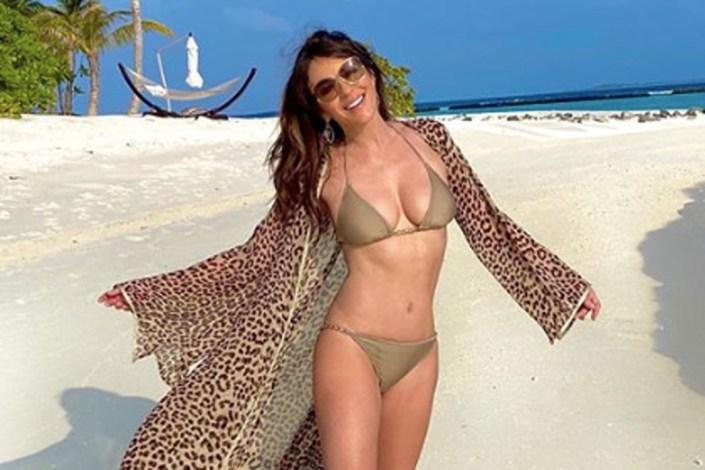 YOWZA, Elizabeth Hurley celebrates 'surviving' lockdown with sexy bikini photo…