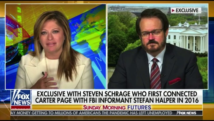 Steven Schrage with Bartiromo — 'I've spoken to Durham's team, coverup to protect Obama'…