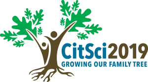 Citizen Science Association Conference 2019 CitSci2019 growing our family tree logo with clear background