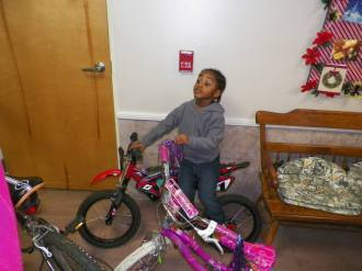 ANTHONY CLAIMS HIS CHRISTMAS BIKE