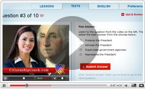 online citizenship test - a class