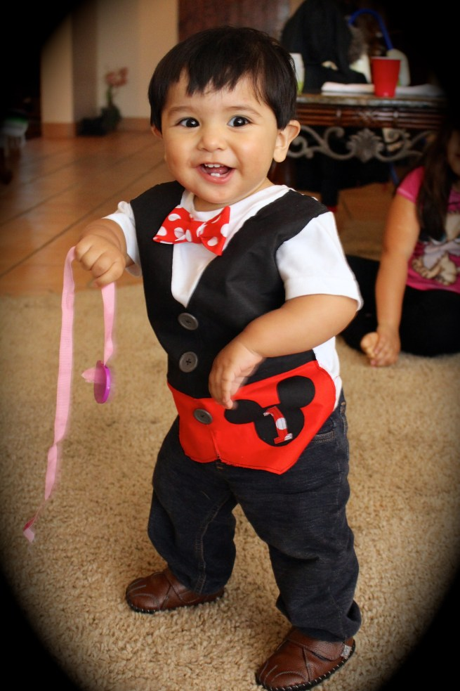 1st Birthday Mickey Faux Vest Shirt by Citlali Rose