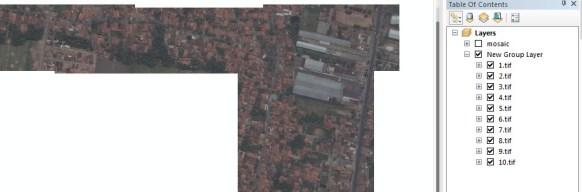 Mosaik Citra Satelit di ArcGIS