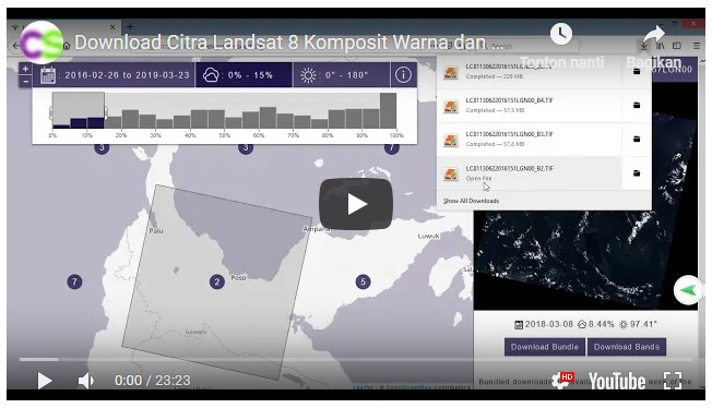 Video Cara Download Citra Landsat 8