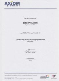 McDade Cert 3 Clean Ops
