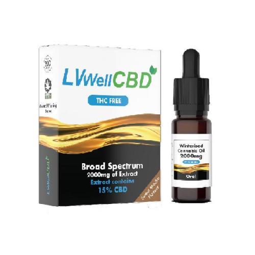LVWell CBD winterised broad spectrum cbd 2000mg cbd