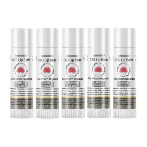 blackthorne organics cbd lip balms 30mg cbd
