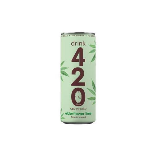 Drink 420 CBD drinks elderflower lime cbd infused drink 15mg cbd