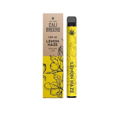 Cali Greens CBD GO 150mg Disposable Vape Pen LEMON HAZE UK