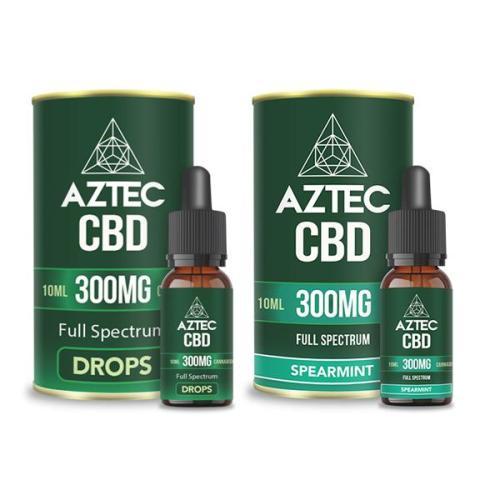 Aztec CBD Full Spectrum 300mg CBD OIL DROPS UK
