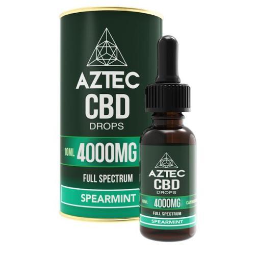 Aztec CBD Full Spectrum 4000mg CBD OILS SPEARMINT UK