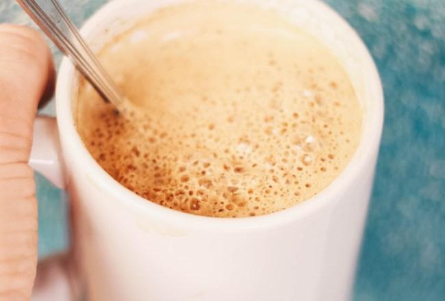 hot milk drink with hemp seeds energy boost