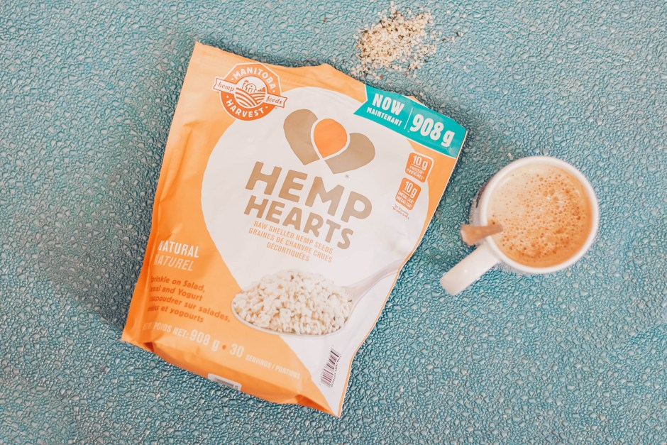hot milk drink with hemp seeds energy boost