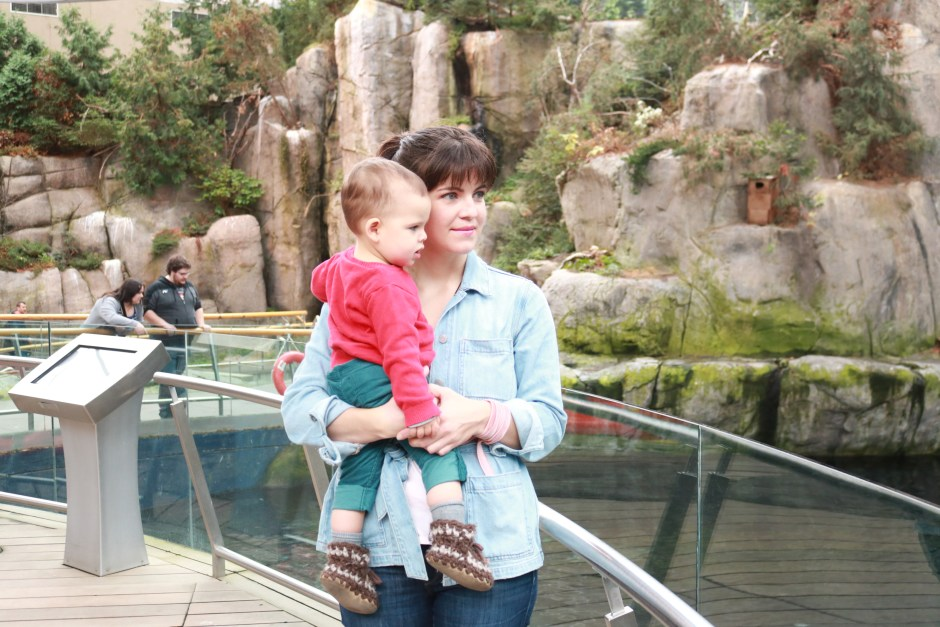 double denim outfit, mom style with toddler