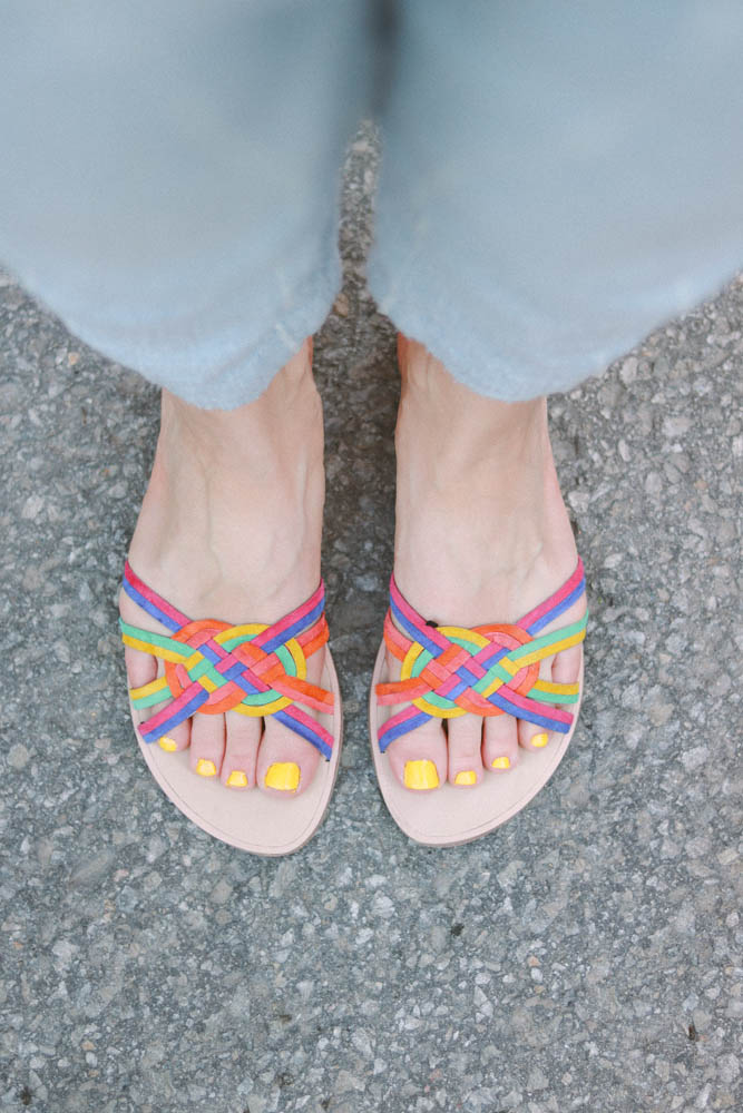 summer shoes, summer sandals, colorful shoes, yellow