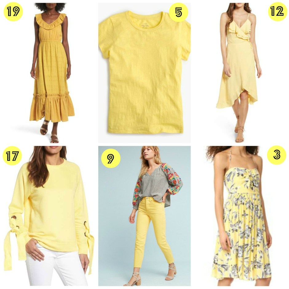 summer color, yellow outfit inspiration