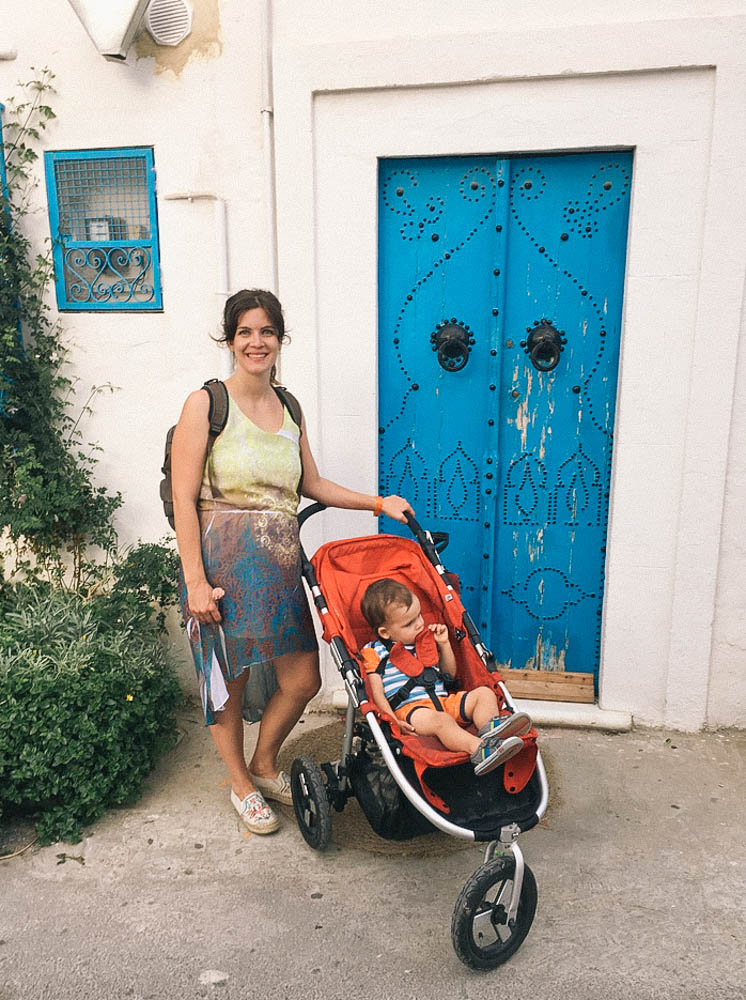 2017, travel, motherhood, travelling with a toddler, places to visit, africa, summer style, travelling to tunisia, tunisie, family vacation, blue, sidi bou said
