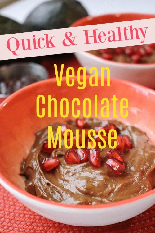 vegan desserts, raw desserts, vegan chocolate dessert, chocolate mousse recipe, avocado recipe, valentine's day dessert, healthy recipe