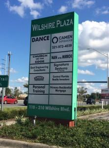 Camen Behavioral shopping center street sign