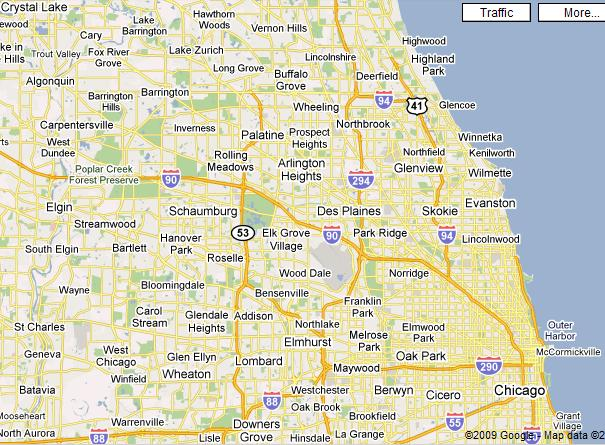 Map Northern Il Suburbs