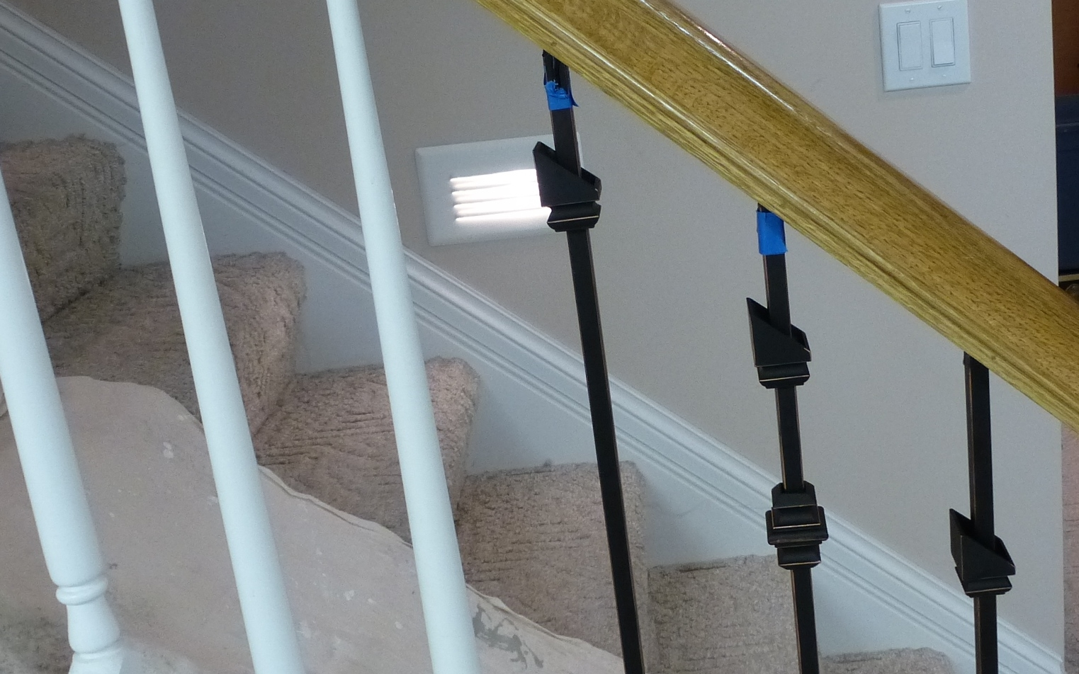 Replacing Wooden Stair Balusters Spindles With Wrought Iron   Indoor Wrought Iron Railings Home Depot   Balusters   Wood   Iron Stair Rail   Stair Parts   Front Porch Railings