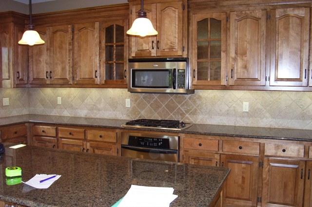 Granite color for medium wood cabinet (flooring, tile ... on Best Granite Color For Maple Cabinets  id=28991