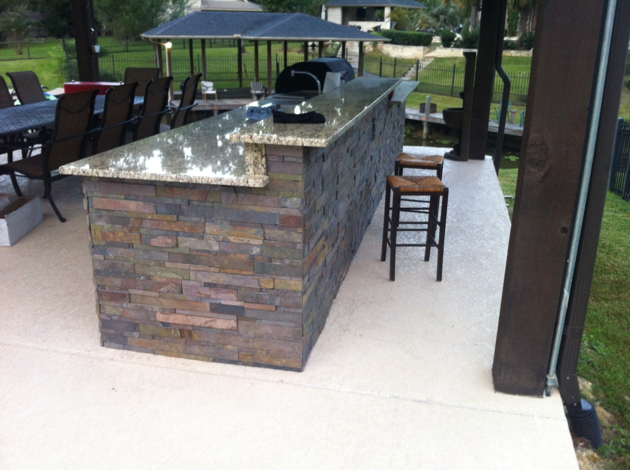 Just about done with my outdoor kitchen (DIY) (granite ... on Patio Kitchen Diy  id=66108