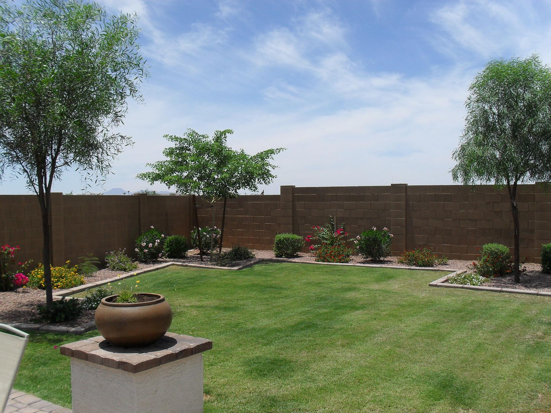 stucco'ing backyard wall (Gilbert: houses, contractors ... on Wall Ideas For Yard id=54452