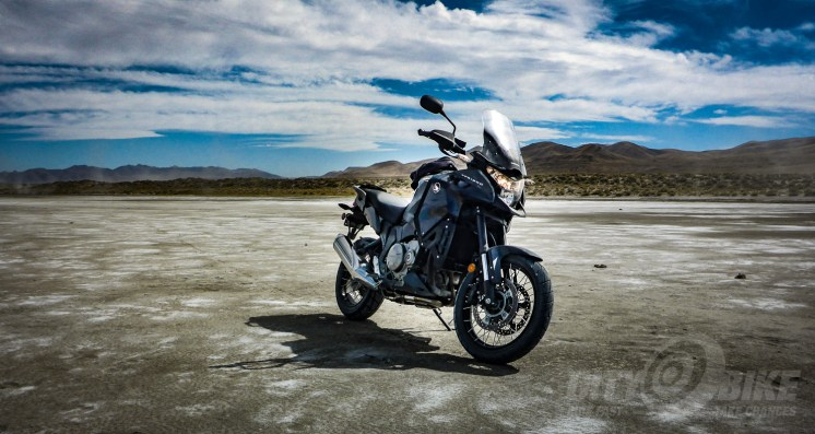 Our VFR1200X in the Nevada desert. Photo: Fish.