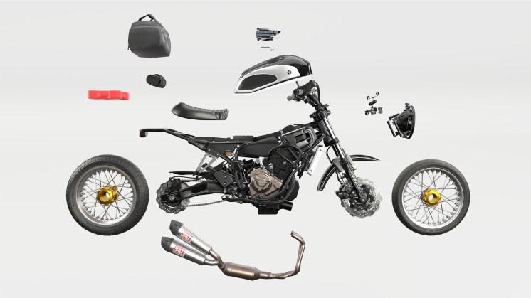 Velomacchi Rural Racer - exploded view