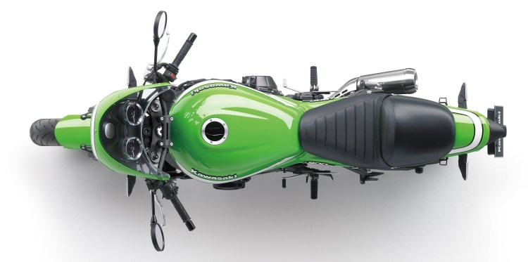 Top view, Kawasaki Z900RS Cafe.