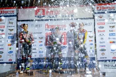 The Twins podium at the 2018 Calistoga Half-Mile.