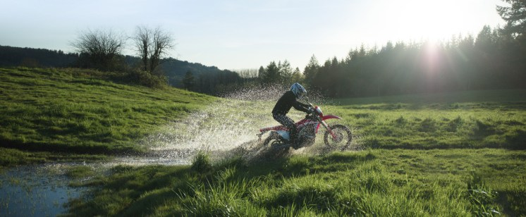 2019 Honda CRF450L water crossing.