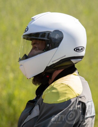Max in the HJC RPHA 90 Modular Helmet, front closed