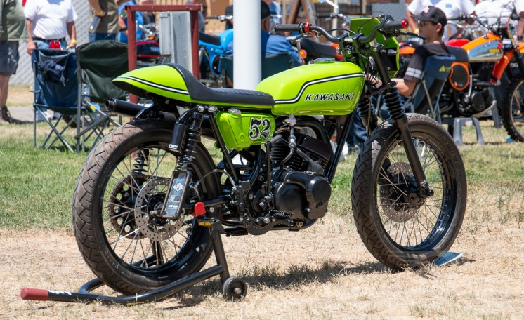The coveted CityBike Editor's Choice award winner: Jeff Tarver's appropriately green '72 Kawasaki Bighorn-based build.