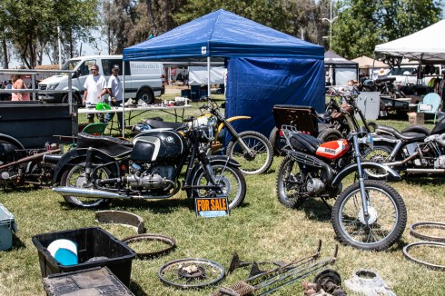 Yes, there is an actual swap meet along with the bike show. Check out that R69S!