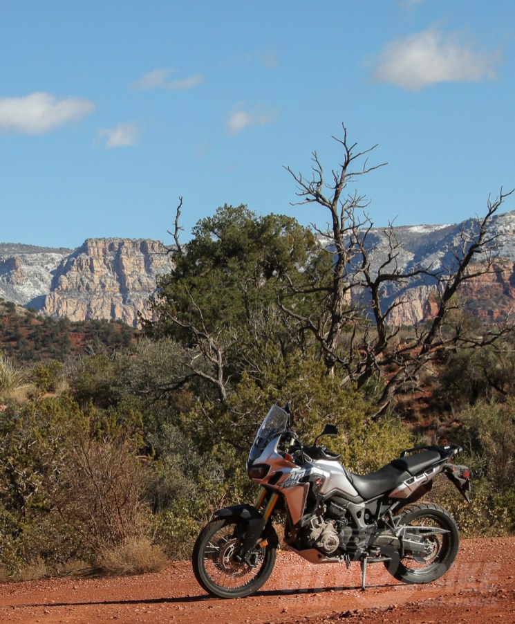 "Honda Africa Twin in Arizona. Which is why we keep calling it ""Arizona Twin."" Photo: Max Klein."