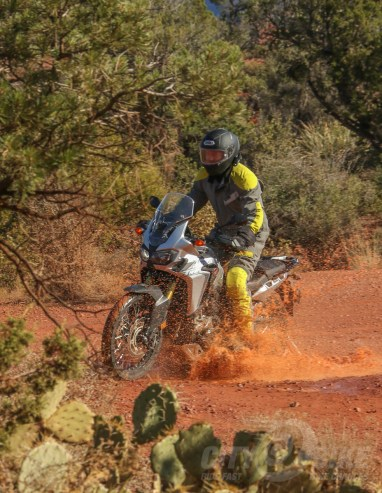 Sorta looks like real mud now, right? The guys at *$ won't know how the bike got muddy. - Honda Africa Twin DCT
