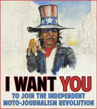 Join the Independent-Moto-Journalism-Revolution! Artwork: Mr. Jensen.