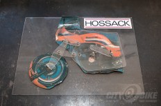 A simple model intended to show how a Hossack front end works. Talking Suspension with Norman Hossack