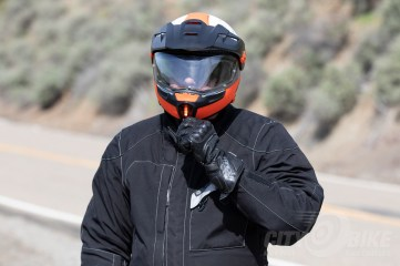 Fish considers the Schuberth E1 Modular Adventure Helmet