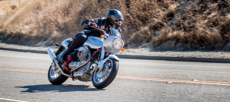 Holzfeuer heroically heads into some action-adventure on his Moto Guzzi V11 Sport.