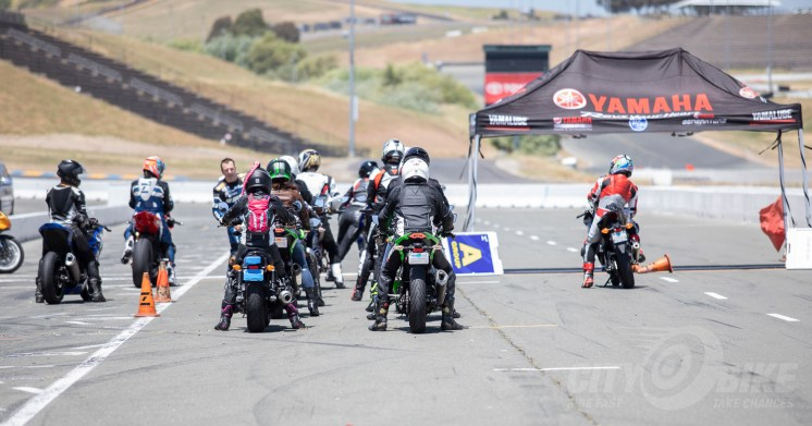 Headed out on the track for higher-speed practice at the Z2 Track Days RoadRider 2.0 Course