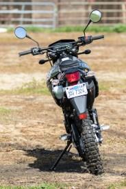 Kawasaki KLX250 - rear view.