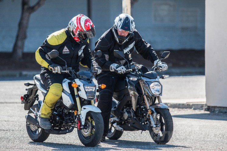 Editor Surj on the Grom, Fish on the Z.