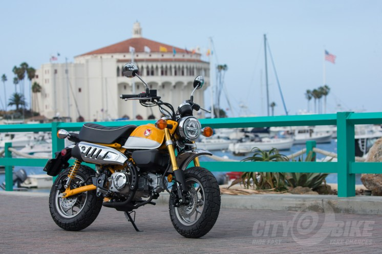 Banana Yellow Honda Monkey on Catalina Island.