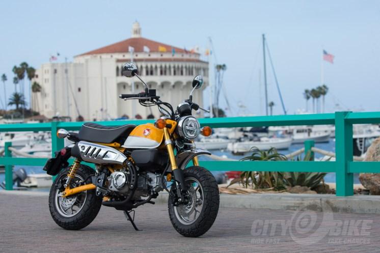 Banana Yellow Honda Monkey on Catalina Island.