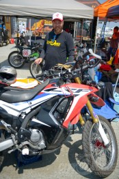 Fish and his Rally in the pits at the Moto Bay Classic